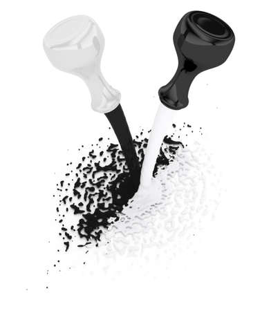 black and white concept  3d rendered image Stock Photo - 13743260