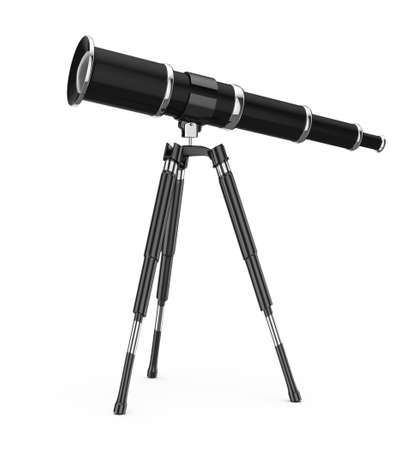 telescope isolated on white background  3d render photo