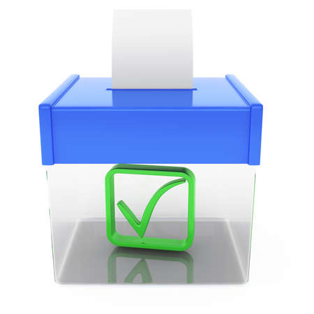 ballot box isolated on white background  3d rendered image photo