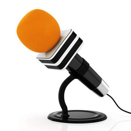 microphone isolated on white background  3d rendered image