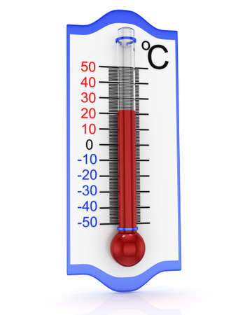 thermometer icon isolated on white background  3d rendered image