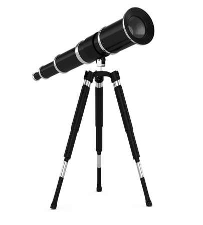 telescope isolated on white background  3d rendered image Stock Photo