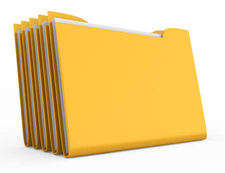 stack of folders isolated on white background  3d rendered image photo