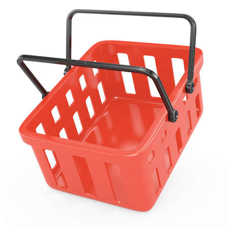 shopping basket isolated on white  3d rendered image Stock Photo - 17258421