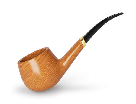 tobacco pipe isolated on white background  3d rendered image