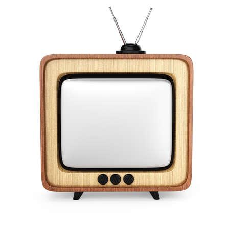 televisor: retro televisor isolated on white background  3d rendered image