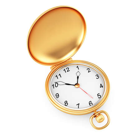 pocket watch isolated on white background  3d render photo