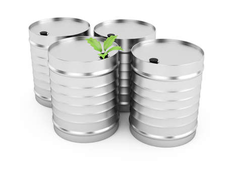 biofuel tanks isolated on white background. 3d render photo
