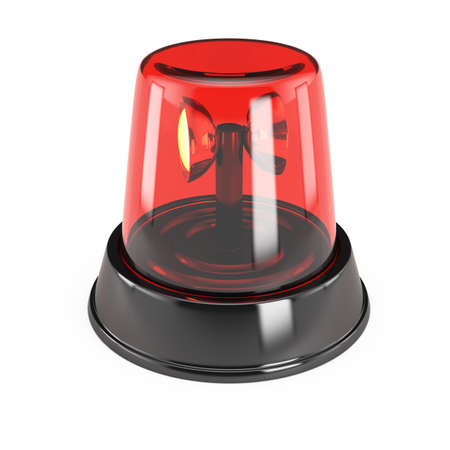 Alarm light isolated on white background  3d render photo