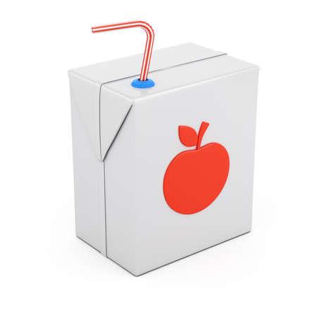 白い背景 3 d レンダリング図に分離されたジュースのパッケージ