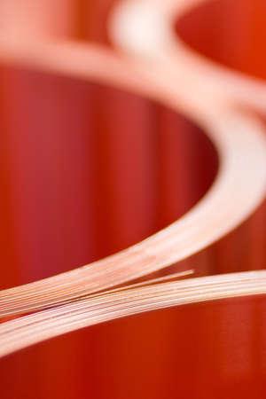 cuprite: Ð¡loseup of copper sheets in rolls