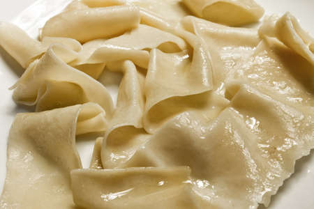 Close up of simple paste with butter