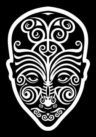 maories: maori tatuaje cara