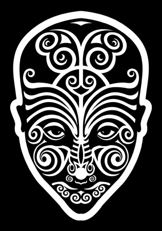 tatouage visage: tatouage face Maori