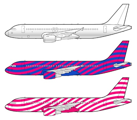 liners: boeing aircraft template