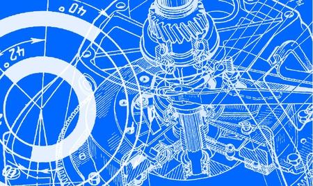 Technische Zeichnung Hintergrund