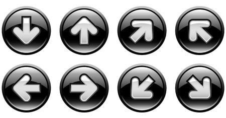 buttons with arrows Stock Vector - 8897354