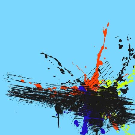 colour splash: grunge background