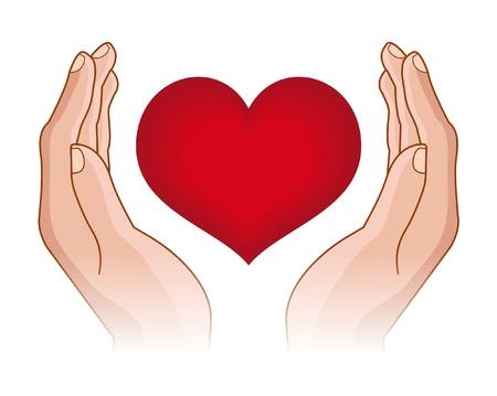 donor: coraz�n en manos Vectores