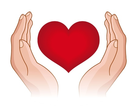 Heart in Hand Illustration
