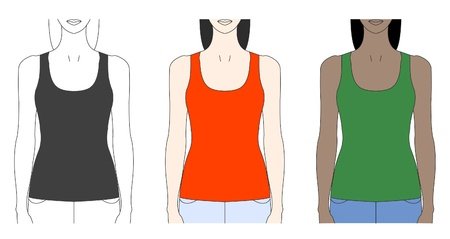 camisole: strap tank top template