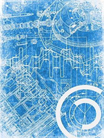 Grunge Blueprint Textur