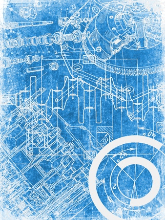 grunge blueprint texture photo