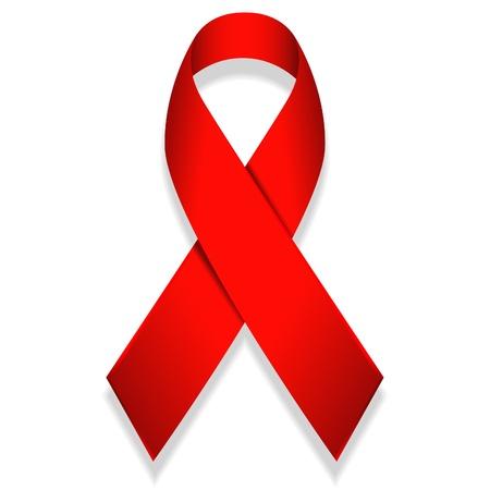 Ilustración de la cinta roja aislada sobre fondo blanco