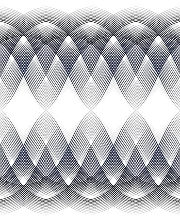 borde de líneas entrecruzadas transparente de diploma o certificado Ilustración de vector