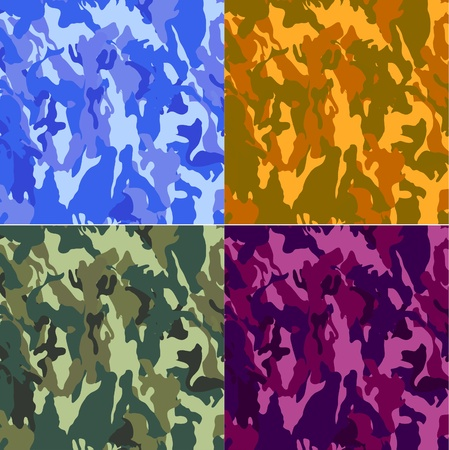 camouflage texture used on fatigues and clothes for hunting Vector