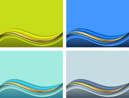 Hintergrund f�r die Pr�sentation mit Wave in verschiedenen Farben Illustration