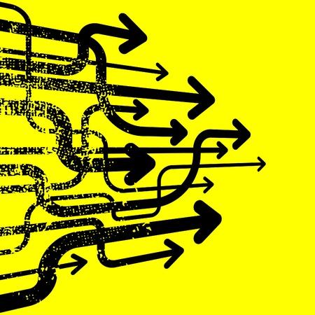 financial leadership: muchas flechas subiendo sobre fondo amarillo