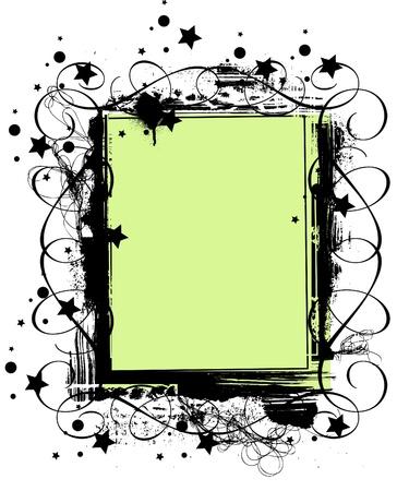 grunge frame or border on white background Vector