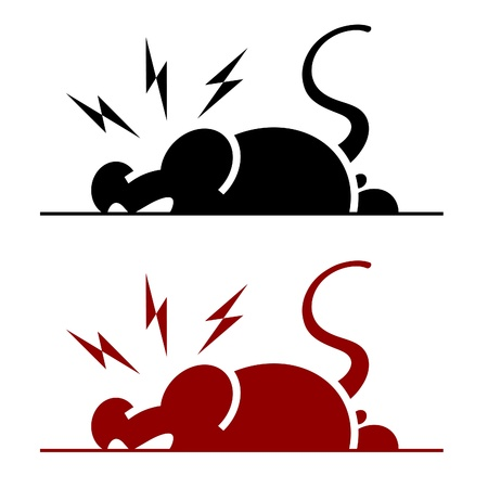 vector icon of angry rat on white background Vector
