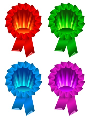 color award ribbon rosette isolated on white Stock Vector - 9815509
