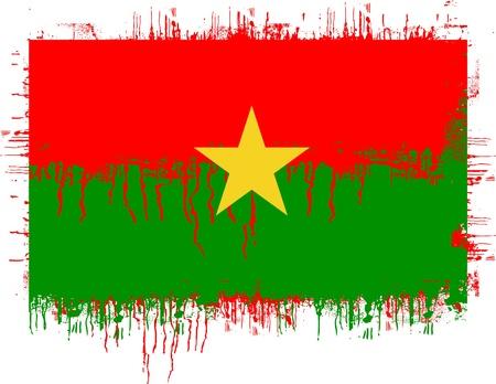 grunge illustration of flag of Burkina Faso on white Stock Vector - 9927040