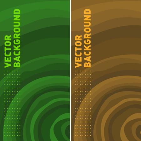 sostenibilit�: sfondo colorato di modelli vettoriali con anelli degli alberi