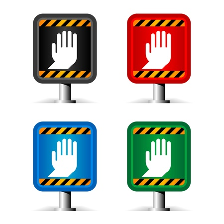color stop signs isolated on white Stock Vector - 10066182