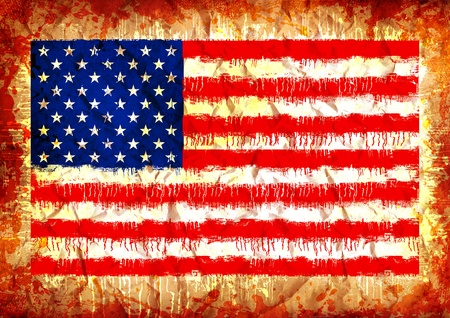grunge flag of the united states of america photo