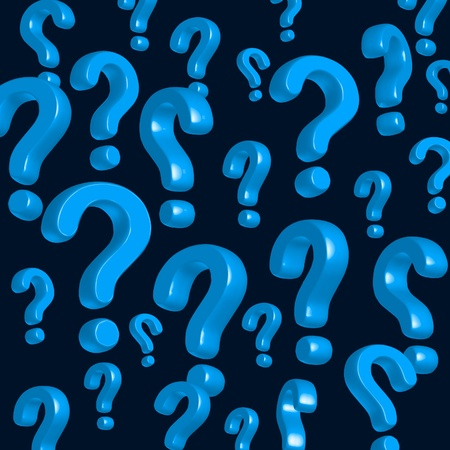 interrogation: wallpaper of blue question marks