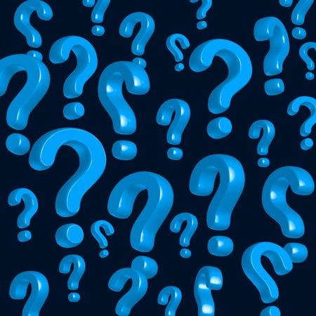 kwis: wallpaper van blauwe vraagtekens Stockfoto
