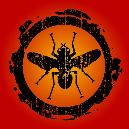 pozőr: grunge piros jel ikon fly