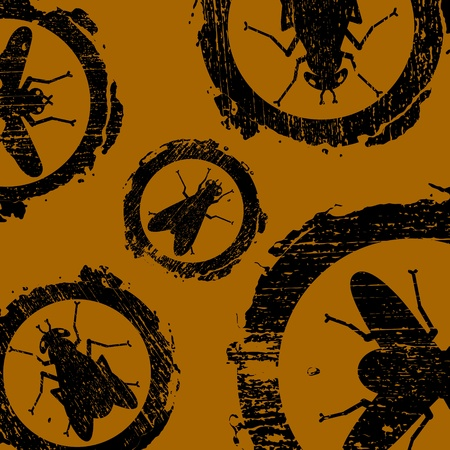 grunge and dirty signs with icons of fly Stock Vector - 11919620