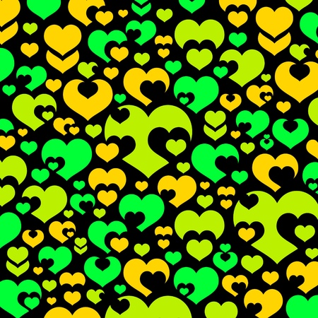 wallpaper of various colorful hearts Vector