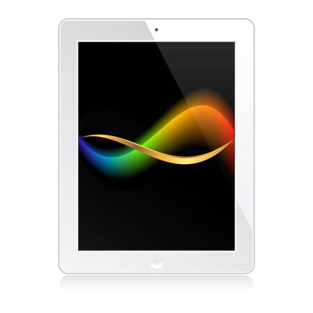 template of tablet with wave on white Stock Vector - 11919630