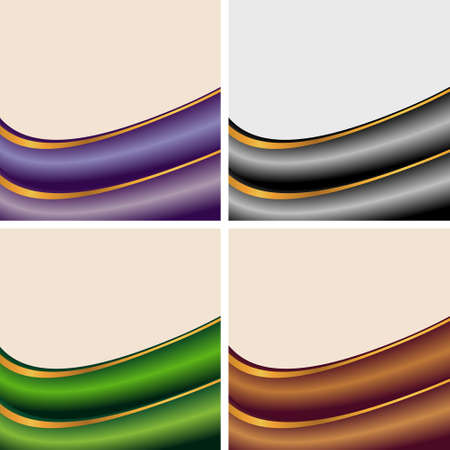 set of abstract banners on beige backgrounds Stock Vector - 12048473