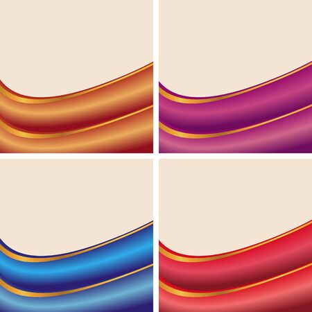 set of abstract banners on beige backgrounds Vector