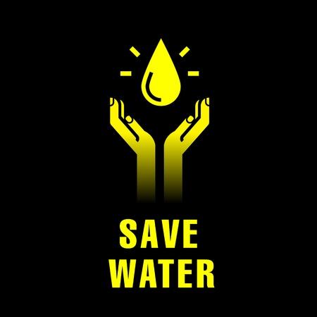 recursos naturales: icono de las manos con gota de agua
