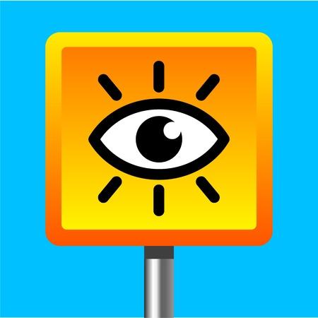 cam�ra surveillance: signe cam�ra vid�o de surveillance