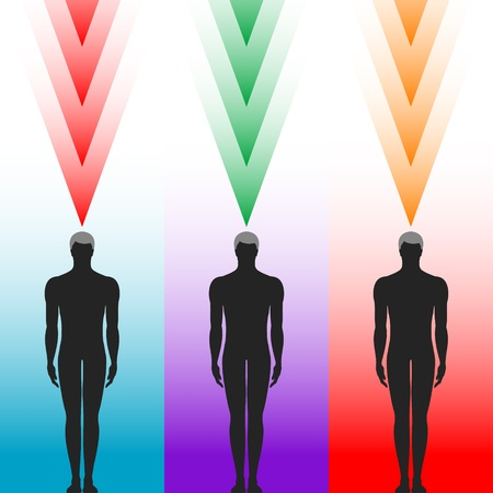 human body silhouette with arrows Vector